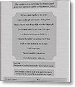 Our Promises Certificate Metal Print