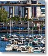 Out At The Harbor V3 Metal Print