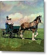 Out For A Trot Metal Print