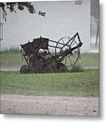 Out In The Rain Metal Print