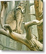 Out Of Reach - Lynx Metal Print
