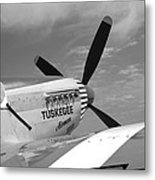 Out Of The Past Bw Metal Print