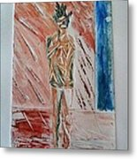 Out Of The Shower Metal Print