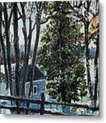 Out Of The Woods At Walden Pond Metal Print