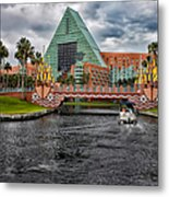 Out Running The Storm At The Dolphin Resort Metal Print