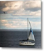 Out Running The Storm Metal Print