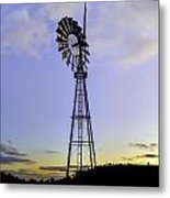 Outback Windmill Metal Print