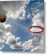 Outdoor Basketball Shot Metal Print by Lane Erickson