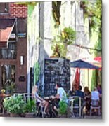 Outdoor Cafe Philadelphia Pa Metal Print