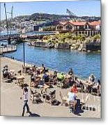 Outdoor Cafe Wellington New Zealand Metal Print