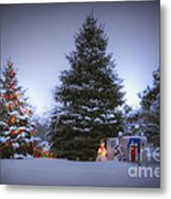 Outdoor Christmas Tree Metal Print