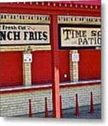 Outdoor Diner Metal Print