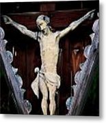 Outdoor Display Of The Crucifixion Of Christ Metal Print