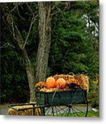 Outdoor Fall Halloween Decorations Metal Print