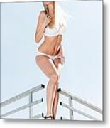 Outdoor Lingerie Portrait Metal Print