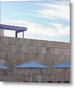 Outdoor Terrace At The Getty Center In Los Angeles Metal Print