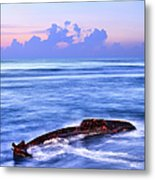 Outer Banks - Beached Boat Final Sunrise II Metal Print
