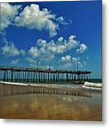 Outer Banks Pier South Nags Head 1 5/22 Metal Print