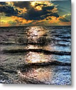 Outer Banks - Radical Sunset On Pamlico Metal Print