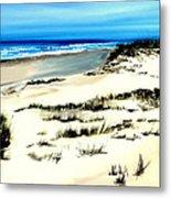 Outer Banks Sand Dunes Beach Ocean Metal Print