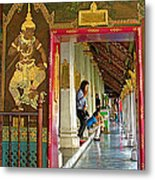 Outer Hall In Thai-khmer Pagoda At Grand Palace Of Thailand Metal Print