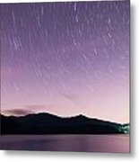 Outer Space Over Lake Santeetlah In Great Smoky Mountains In Sum Metal Print
