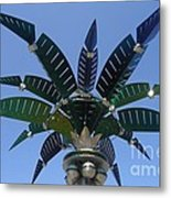 Outer Space Palm Metal Print