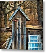 Outhouse - 5 Metal Print by Paul Ward