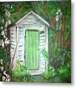 Outhouse Greenery Metal Print