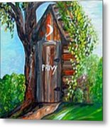 Outhouse - Privy - The Old Out House Metal Print