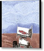 Outlaw Race Car Metal Print