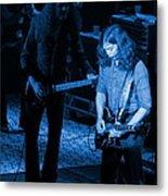 Outlaws #20 Crop 3 Blue Metal Print