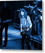 Outlaws #21 Crop 2 Blue Metal Print