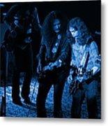 Outlaws #25 Crop 2 Blue Metal Print