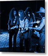 Outlaws #26 Crop 2 Blue Metal Print