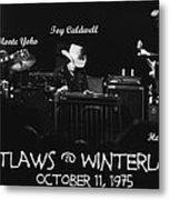 Outlaws With Toy Caldwell 1975 Metal Print