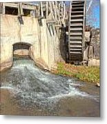 Outlet On The Mill Metal Print