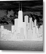 Outline Of Chicago Metal Print