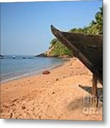 Outrigger On Cola Beach Metal Print