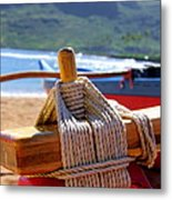 Outrigger Rigging Metal Print