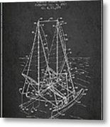 Outrigger Sailboat Patent From 1977 - Dark Metal Print