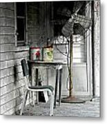 Outside Air-conditioning Metal Print