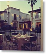 Outside Dining Metal Print by Laurie Search