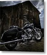 Outside The Barn Metal Print