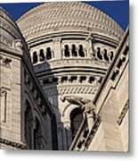 Outside The Basilica Of The Sacred Heart Of Paris - Sacre Coeur - Paris France - 011310 Metal Print by DC Photographer
