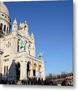 Outside The Basilica Of The Sacred Heart Of Paris - Sacre Coeur - Paris France - 01136 Metal Print by DC Photographer