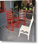 Outside The Bookstore Metal Print
