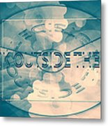 Outside The Box  Metal Print