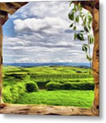 Outside The Fortress Wall Metal Print