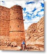 Outside The Walls Of Historic Saint Catherine's Monastery - Egypt Metal Print